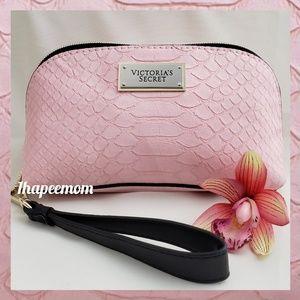 Victoria's Secret Pink Crocodile Bag Wristlet